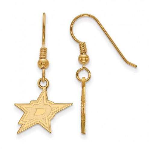 Dallas Stars Sterling Silver Gold Plated Small Dangle Earrings