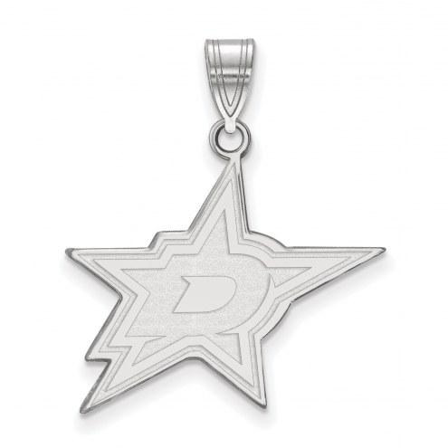 Dallas Stars Sterling Silver Large Pendant