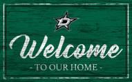 Dallas Stars Team Color Welcome Sign