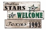 Dallas Stars Welcome 3 Plank Sign
