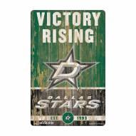 Dallas Stars Slogan Wood Sign