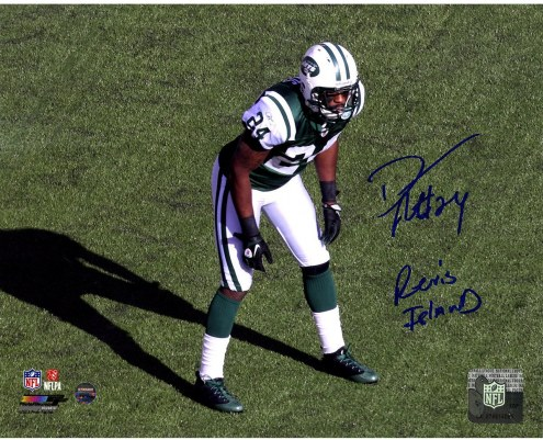 "Darrelle Revis Signed Jets Stance 8 x 10 Photo with ""Revis Island"""