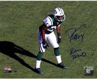 """Darrelle Revis Signed Jets Stance 8 x 10 Photo with """"Revis Island"""""""