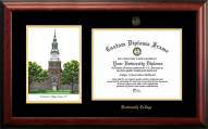 Dartmouth Big Green Gold Embossed Diploma Frame with Campus Images Lithograph