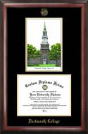 Dartmouth Big Green Gold Embossed Diploma Frame with Lithograph