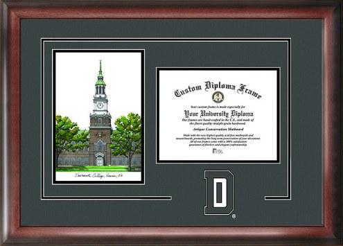 Dartmouth Big Green Spirit Diploma Frame with Campus Image
