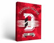 Davidson Wildcats Banner Canvas Wall Art
