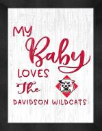 Davidson Wildcats My Baby Loves Framed Print