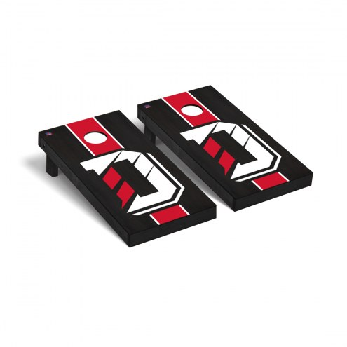Davidson Wildcats Onyx Stained Cornhole Game Set