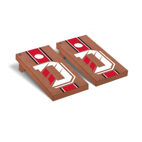 Davidson Wildcats Rosewood Stained Stripe Cornhole Game Set