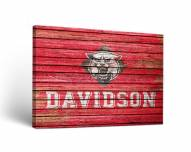 Davidson Wildcats Weathered Canvas Wall Art