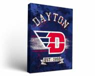 Dayton Flyers Banner Canvas Wall Art
