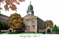 Dayton Flyers Campus Images Lithograph