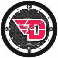 Dayton Flyers Carbon Fiber Wall Clock