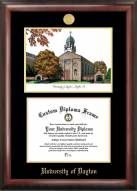 Dayton Flyers Gold Embossed Diploma Frame with Lithograph