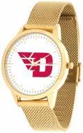 Dayton Flyers Gold Mesh Statement Watch
