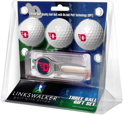 Dayton Flyers Golf Ball Gift Pack with Kool Tool