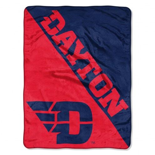 Dayton Flyers Halftone Raschel Blanket