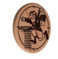 Dayton Flyers Laser Engraved Wood Clock