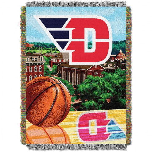 Dayton Flyers Home Field Advantage Throw Blanket