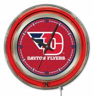 Dayton Flyers Neon Clock