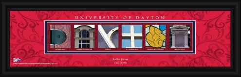 Dayton Flyers Personalized Campus Letter Art