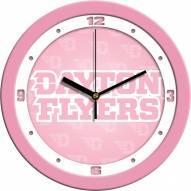 Dayton Flyers Pink Wall Clock