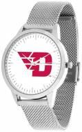 Dayton Flyers Silver Mesh Statement Watch