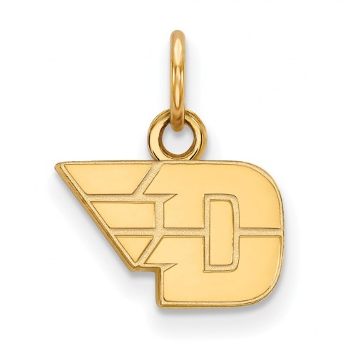 Dayton Flyers Sterling Silver Gold Plated Extra Small Pendant