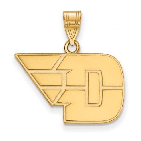 Dayton Flyers Sterling Silver Gold Plated Medium Pendant