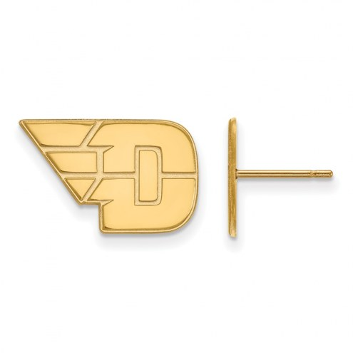 Dayton Flyers Sterling Silver Gold Plated Small Post Earrings