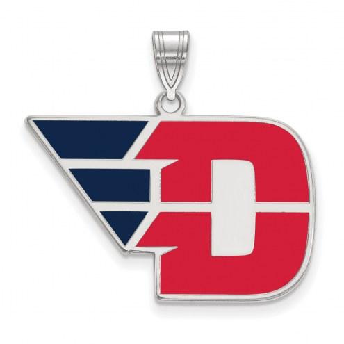 Dayton Flyers Sterling Silver Large Enameled Pendant