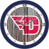 Dayton Flyers Weathered Wood Wall Clock