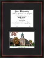 University of Dayton Diplomate Framed Lithograph with Diploma Opening
