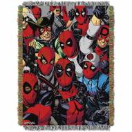 Deadpool We are all Here Throw Blanket