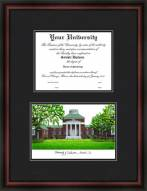 University of Delaware Diplomate Framed Lithograph with Diploma Opening