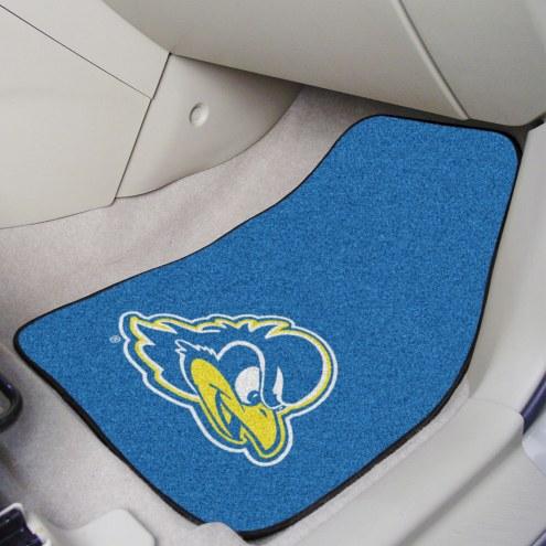 Delaware Blue Hens 2-Piece Carpet Car Mats