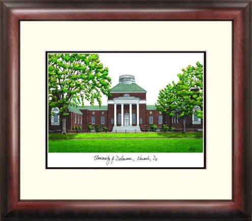 Delaware Blue Hens Alumnus Framed Lithograph