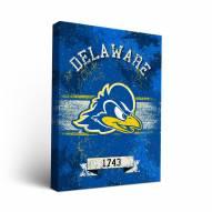 Delaware Blue Hens Banner Canvas Wall Art