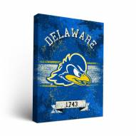 Delaware Blue Hens Banner Canvas Wall Art