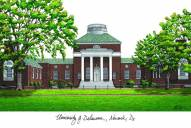 Delaware Blue Hens Campus Images Lithograph