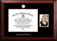 Delaware Blue Hens Gold Embossed Diploma Frame with Portrait