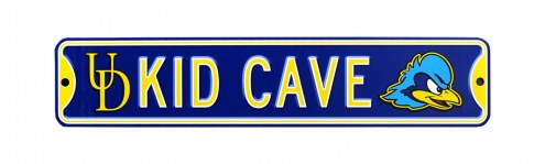 Delaware Blue Hens Kid Cave Street Sign