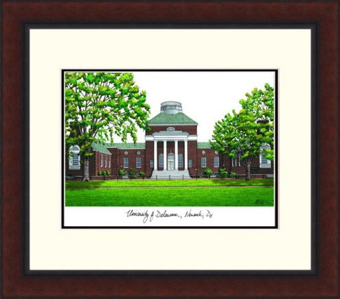Delaware Blue Hens Legacy Alumnus Framed Lithograph