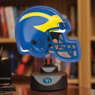 Delaware Blue Hens Neon Helmet Desk Lamp