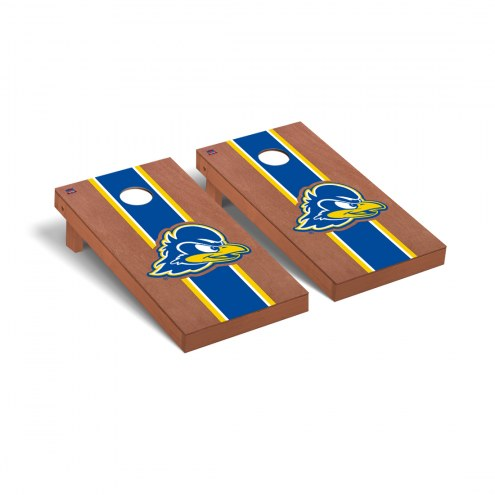 Delaware Blue Hens Rosewood Stained Cornhole Game Set