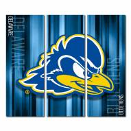 Delaware Blue Hens Triptych Rush Canvas Wall Art