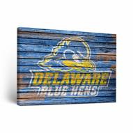 Delaware Blue Hens Weathered Canvas Wall Art