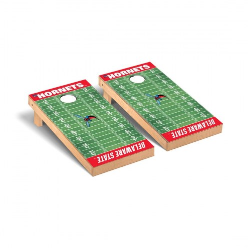 Delaware State Hornets Football Field Cornhole Game Set