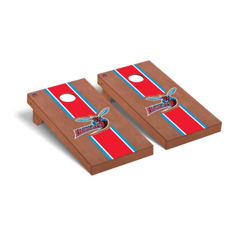 Delaware State Hornets Rosewood Stained Stripe Cornhole Game Set
